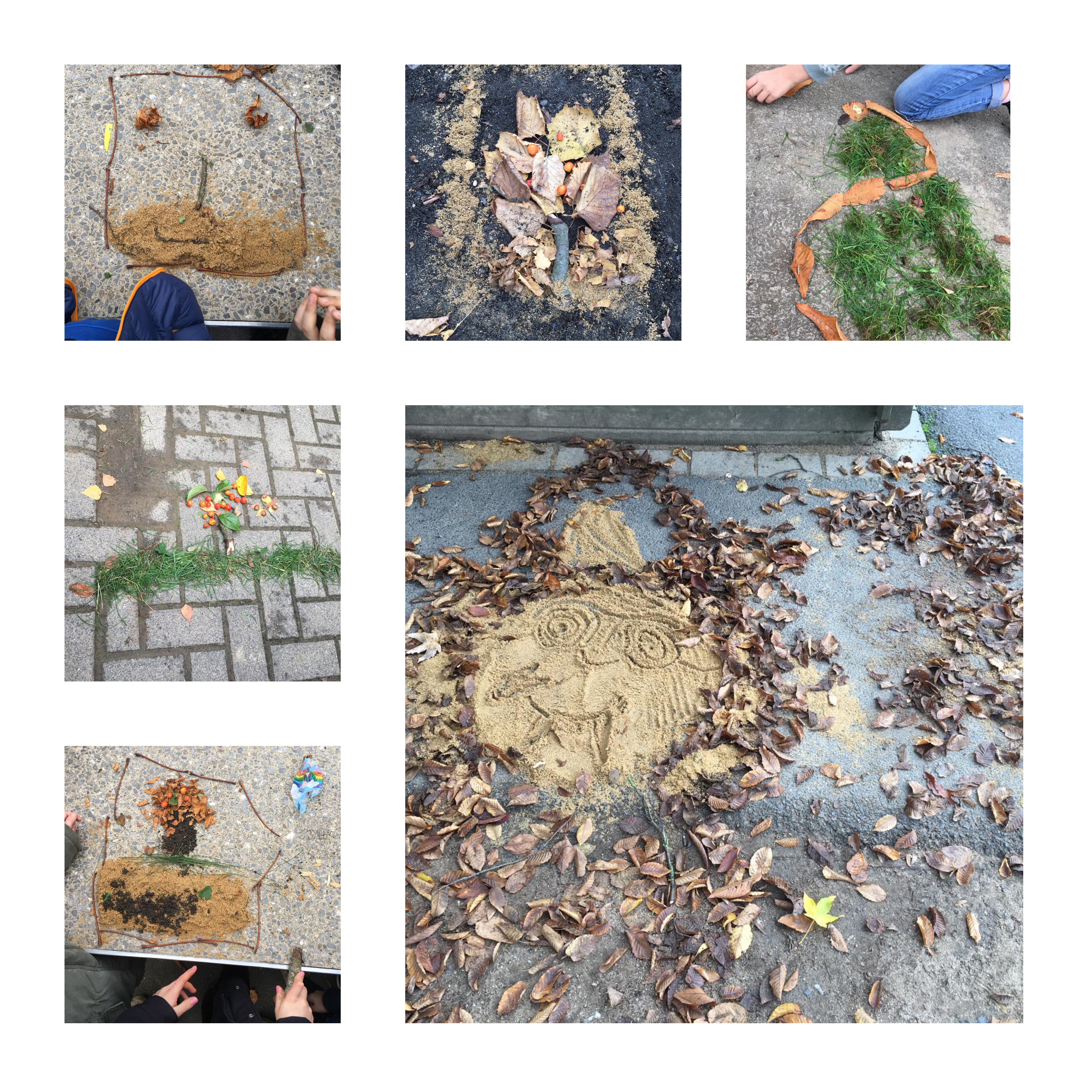 Read more about the article Herbstbilder aus Naturmaterialien